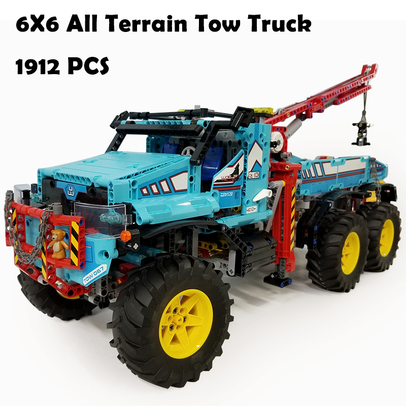 Model Building Blocks toys 20056 1912Pcs 6X6 All Terrain Tow Truck compatible with lego Technic Series 42070 DIY toys & hobbies inov 8 сумка all terrain kitbag black