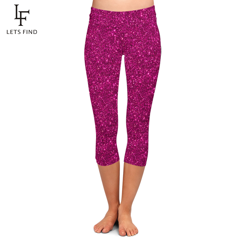 Summer Fashion Color Women 3d Galaxy Digital Print High Waist Capri Leggings Elastic Trouser Casual Leggings Plus Size