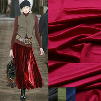 4color Silk Velour Fabric Silk Velvet Fabric For Velvet Dress Fabric 160cm Width Soft Pajamas Suits