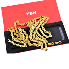Taiwan YBN SLA Mtb Bike Chain 12 Speed 126 Links For SRAM SRAM XX1 GX12 Bike Golden Chain Bike Accessory 2017 new original ybn 11 speed diamond black mtb mountain road racing bike chain sla 110bg