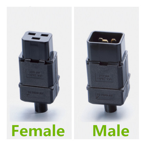 uxcell AC110-250V 10A Male IEC320 Male C14 to Female C5 Power Socket Adapter for Cord Connecting 5 Pcs
