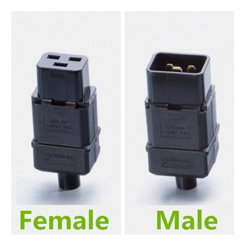 UPS PDU IEC 320 C20 Rewirable Male Plug C20 Adapter Connector Screw Plug Adaptor