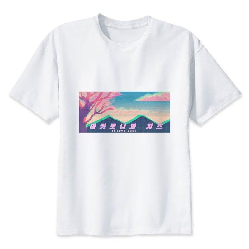 Vaporwave 2018 t Shirt Stampata T-Shirt uomo di Fitness Abbigliamento Maschile Crossfit Magliette e camicette T2268