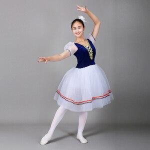 Image 3 - Giselle Ballet Tutu Lungo il Lago Dei Cigni Balletto Costume Adulti Delle Donne Professionali Vestito Romantico Ballerina Bambini I Bambini Dancewear