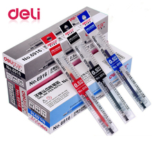 Deli 1pcs Gel Pen ink Refill 0.5mm Press Machanical Knock Type 3 Colors Spring Head Stationery Office School Supplies 6906