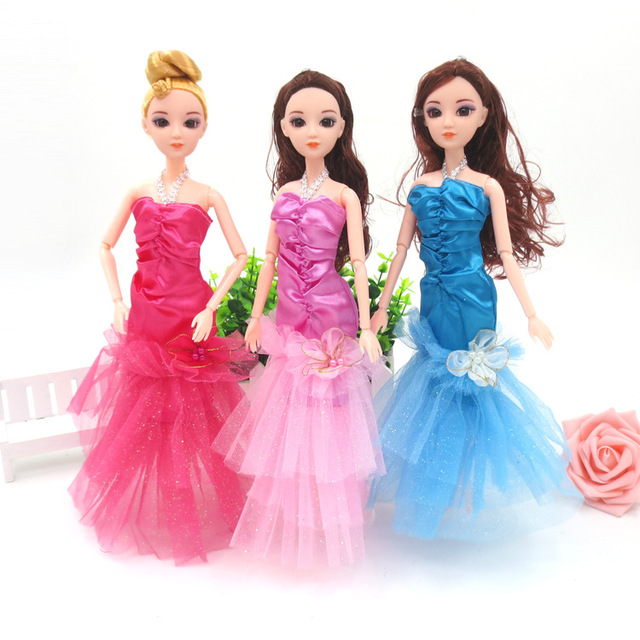Handmade Dolls Party Dress Gown Skirt Fashion Clothes For Barbie ...