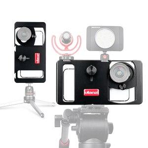 Image 2 - Ulanzi u rig metal handheld smartphone equipamento de vídeo vlog configuração alça aperto estabilizador com lente do telefone para iphone huawei videomakers