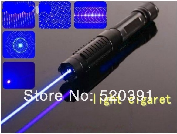 High Power 10000MW/10w 450nm blue laser pointer burning match/dry wood/candle/black/cigarettes+5 cap flashlight+glasses+gift box