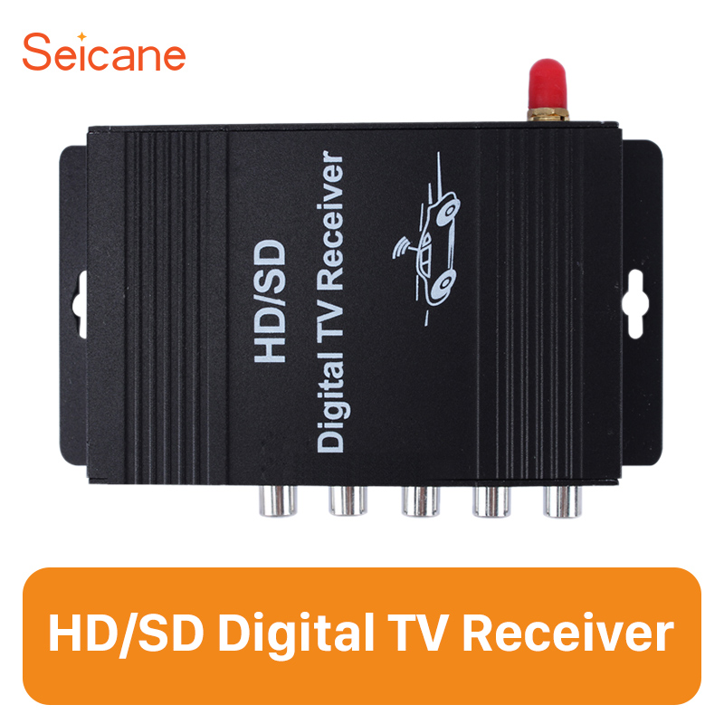 Seicane ATSC HD Digital TV Receiver with Visa 4 Video Output Input 2 Stereo Output for Audi BMW Buick Chevrolet Chrysler Dodge