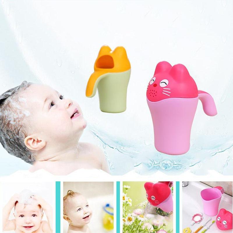 Baby Kids Cartoon Bathing Cup Shower Shampoo Bailer Water Spoon Bath Wash Cups M09