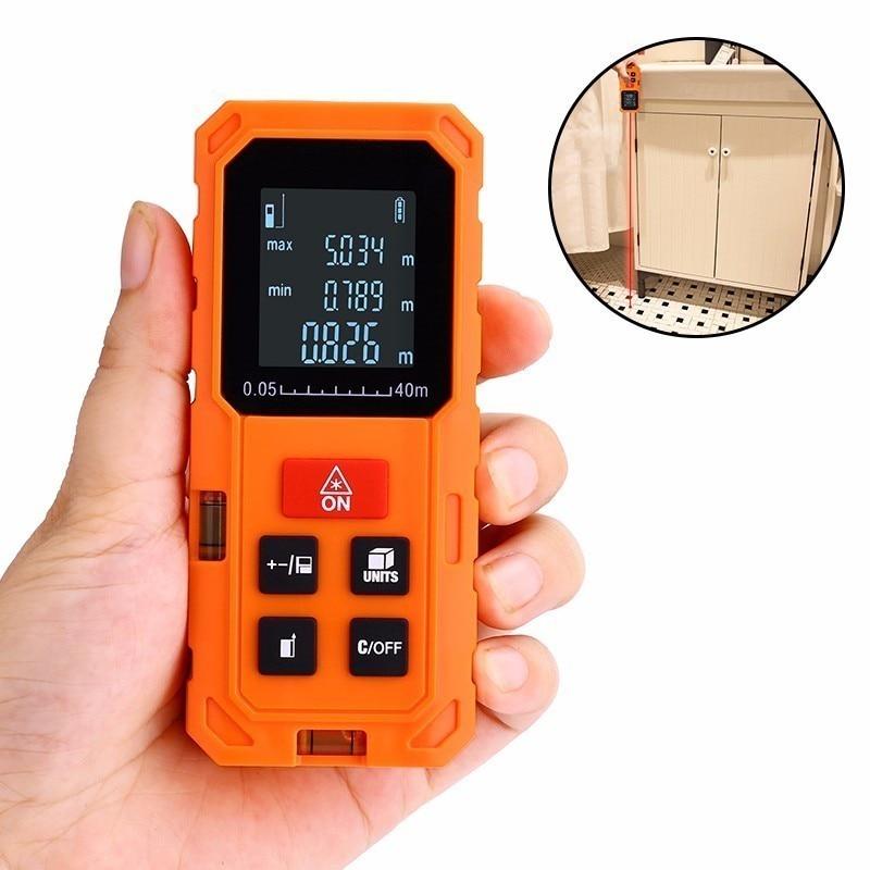 Laser Rangefinder Digital Laser Distance Meter Battery-powered Laser Range Finder Tape Distance Measure 40m 60m 80m 100m цена