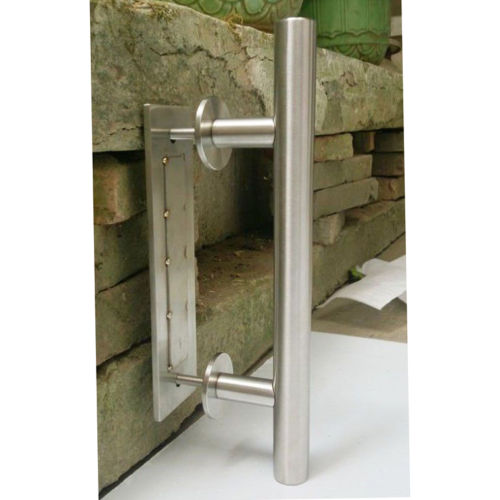 Stainless Steel Sliding Barn Door Pull Handle Wood Door Handle, Brushed  Nickel 19 010