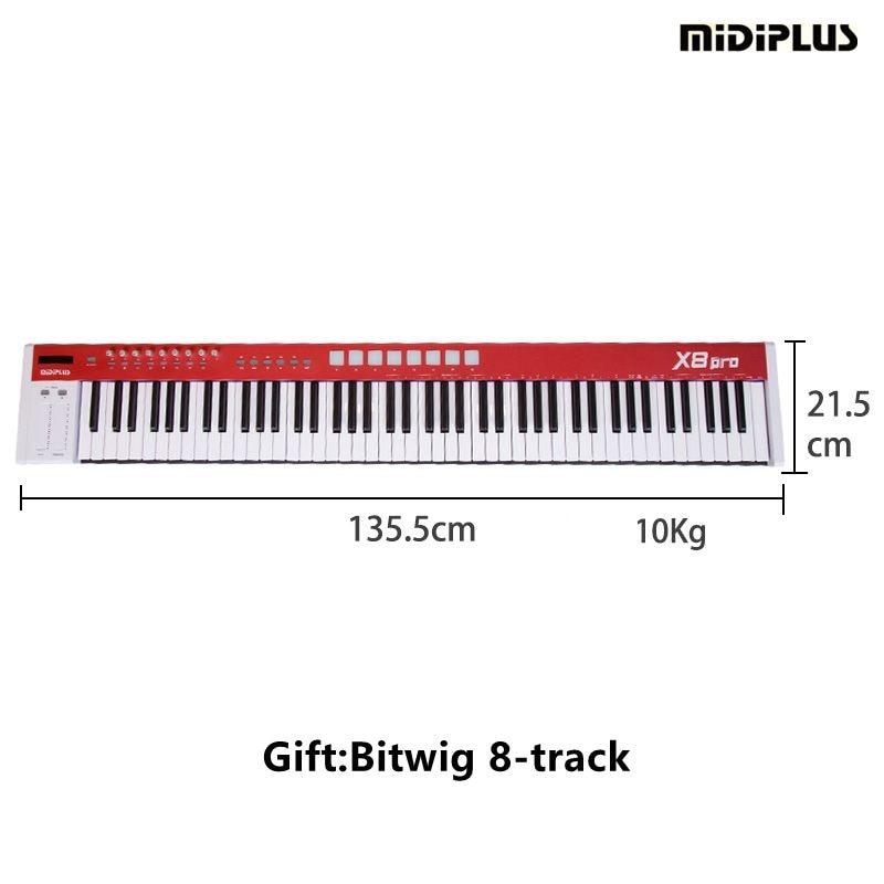 MIDIPLUS X8pro 88 pleine taille semi-vitesse poids touches avec buitl dans sources sonores USB professionnel midi clavier contrôleur midi