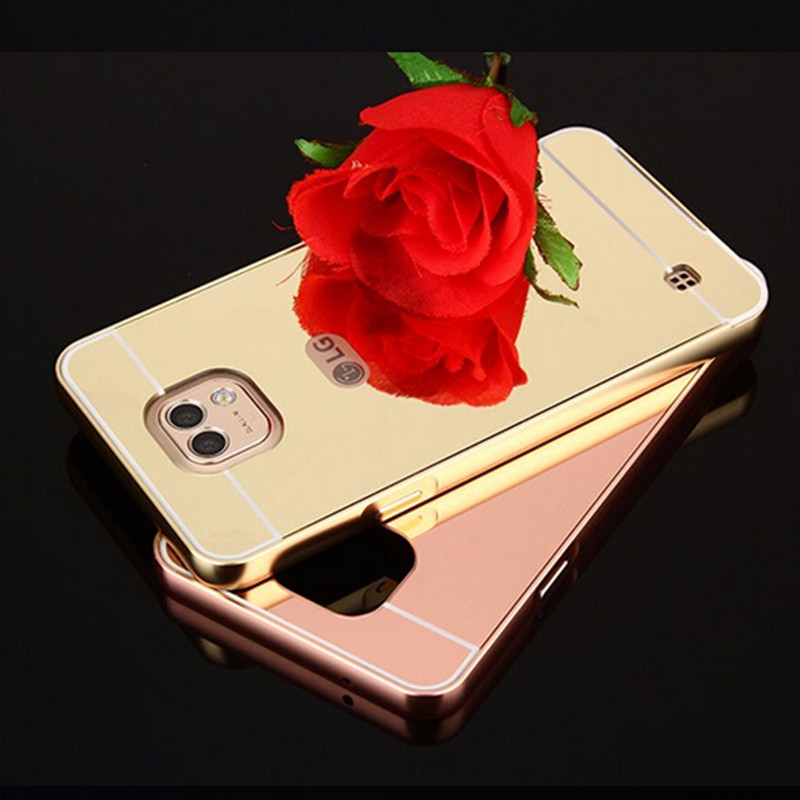 Mobile Phone Case Wholesale and Retail Center For LG X Cam Case Fashion Luxury Rose Gold Mirror Aluminum Metal Back Cover For LG X Cam K580