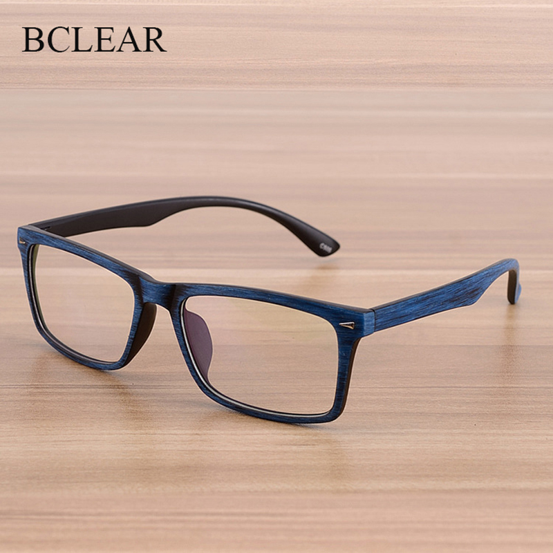BCLEAR Eye Glasses Men And Women Unisex Wooden Pattern Fashion Retro Optical Spectacle Eyeglasses Glasses Frame Vintage Eyewear