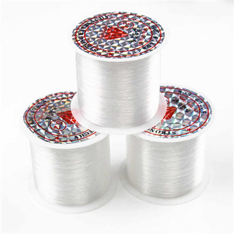 0.2 Mm-1 Mm Transparan Nilon Tali Perhiasan Aksesoris Non Elastis Kristal Pancing String Manik-manik Tali Benang untuk Perhiasan