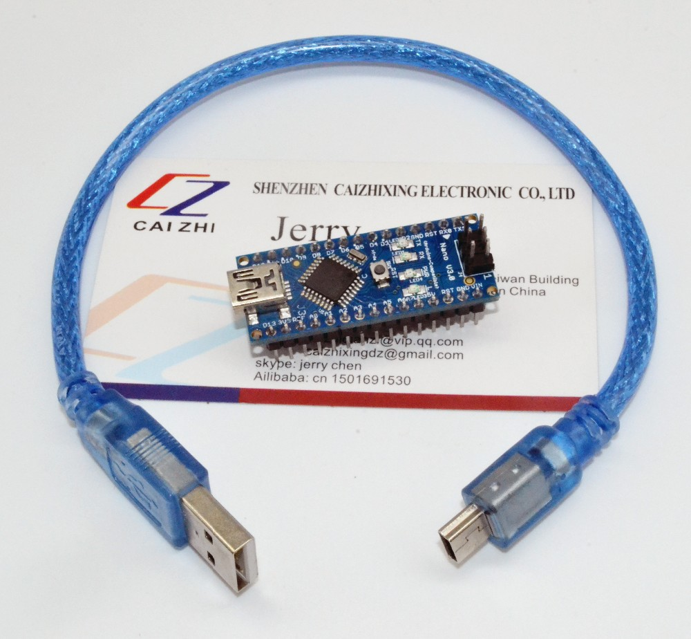 Trasporto Libero per il controller Arduino Nano V3.0 ATMEGA328P ATMEGA328 FT232RL originale + cavo USB