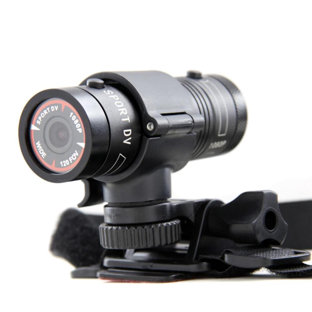 цена на 2018 new Mini F9 Bike Camera HD Motorcycle Bike Helmet Sport Action Video Camera DV Camcorder Full HD 1080p Car Video Recorder