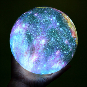 Image 2 - USB Recharge Colorful 3D Starry Sky Moonlight Touch Control LED Night Light for Christmas Birthday Gift Home Decor Drop Shipping