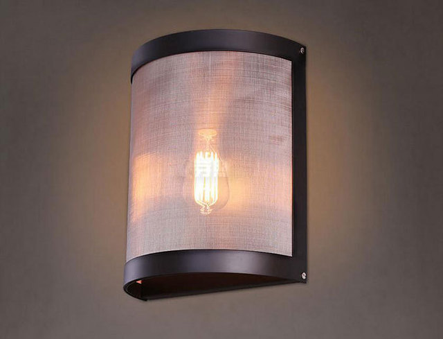 Wall Light Kitchen : Aliexpress.com : Buy AC100 240V 25*25cm Creative Design Mosquito net Lampshade Wall Lights Retro ...