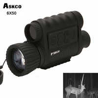 Askco Hunting Digital Infrared 6X50 Night Vision Monocular Goggles Telescope 5MP HD 350m Range For Picture Video Shooting