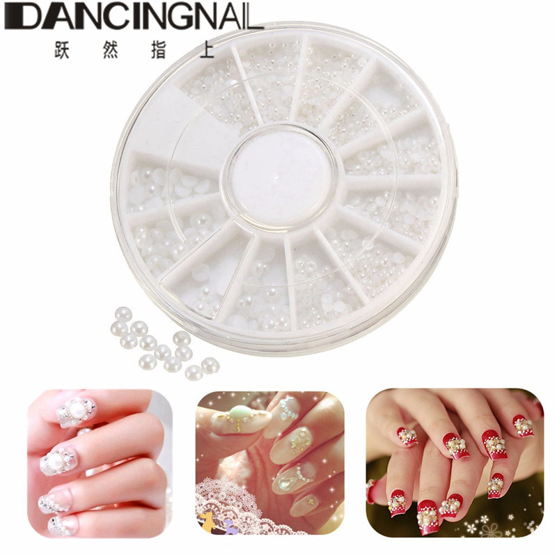 Nail art disc nail decor decal tiny beads glitter nail art nail art disc nail decor decal tiny beads glitter nail art painting manicure pedicure make up decoration half circle pearl in stickers decals from beauty prinsesfo Image collections
