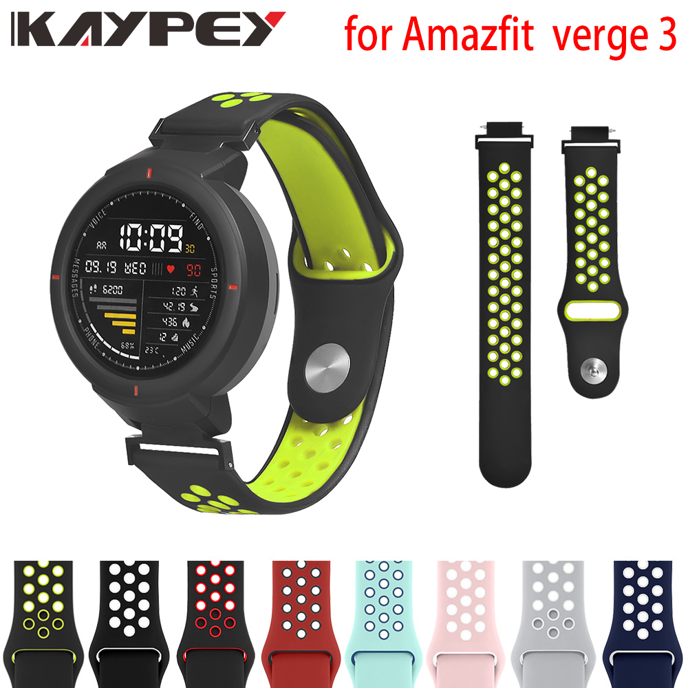 Silicon Soft Wrist Strap For Xiaomi Amazfit Verge Band Smart Watch Accessories For Huami Amazfit Verge 3 Sports Strap Bracelet