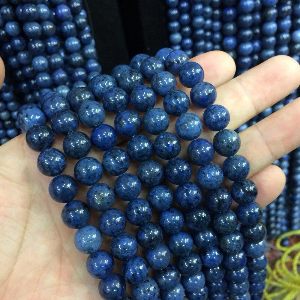 natural dumortierite stone beads natural stone beads DIY loose beads ...