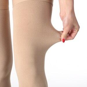 Image 5 - Uyluk yüksek sıkıştırma çorap erkekler ve kadınlar için 30 40 mmHg destek ödem varisli damarlar seyahat gebelik tıbbi hemşirelik seyahat