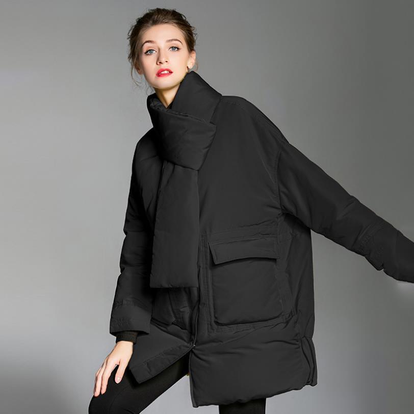 Plus Marque Style Mode Black De Hiver Manteau Parkers Vers Unique yellow Bas Veste Wq818 Femelle Nouvelle Le Poitrine Épais Chaud Écharpe Couverture waZZ5qWt