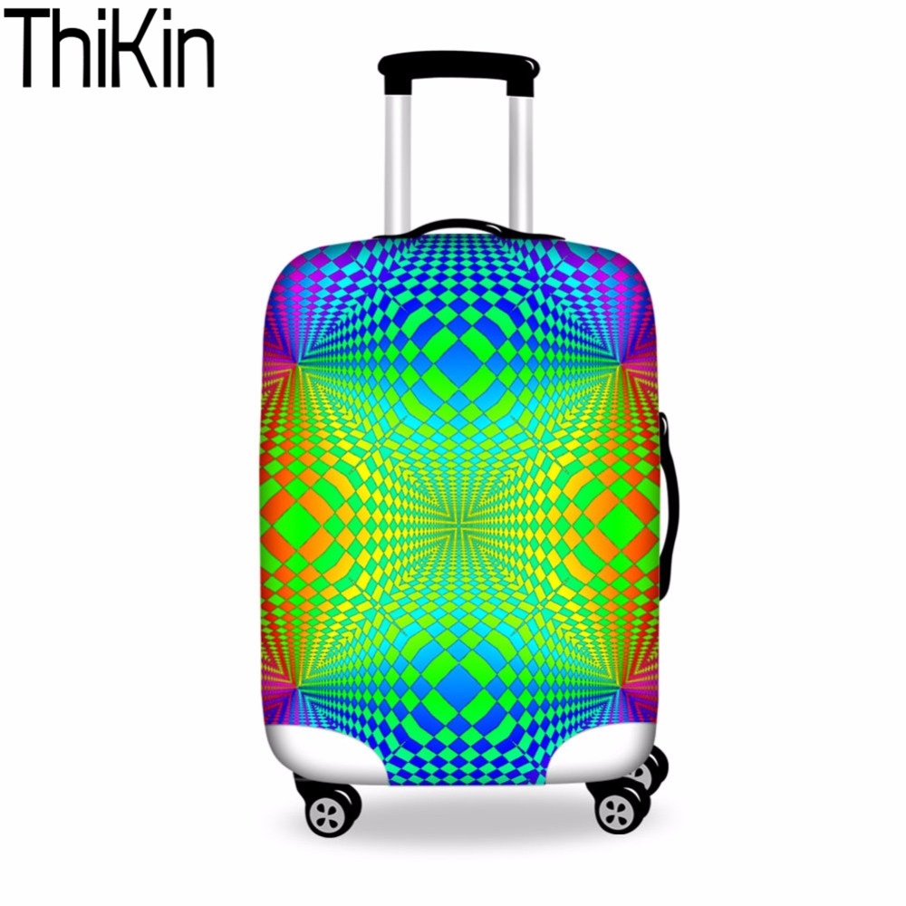 THIKIN Luggage Case Covers Mixed Color Suitcase Protective Covers Zipper Suit for 18-30 Inch Anti-scratch Luggage Accessories