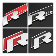 2 colors 3D metal car stickers automobiles for R Rline Volkswagen VW polo passat  CC golf 4 5 6 7 polo car covers car styling