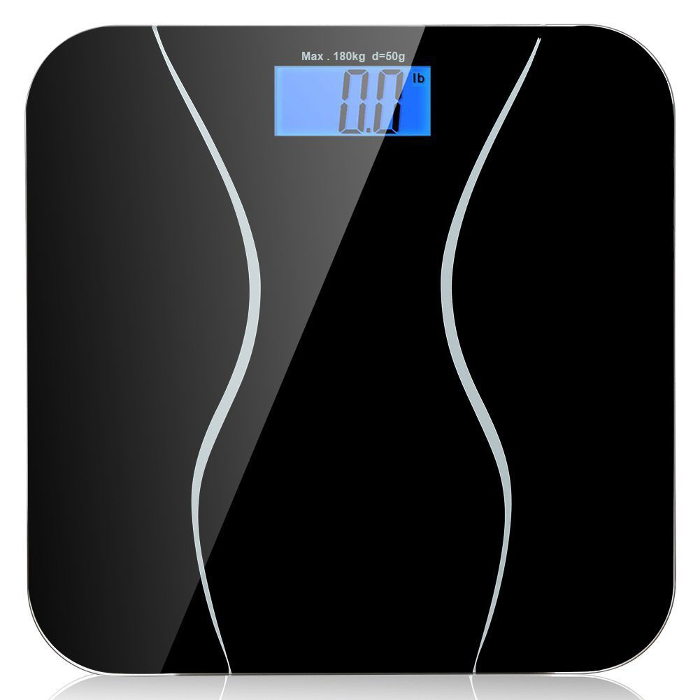 A2 Bathroom floor scales smart household electronic digital Body bariatric LCD display Division value 180kg=400lb/0.1kg