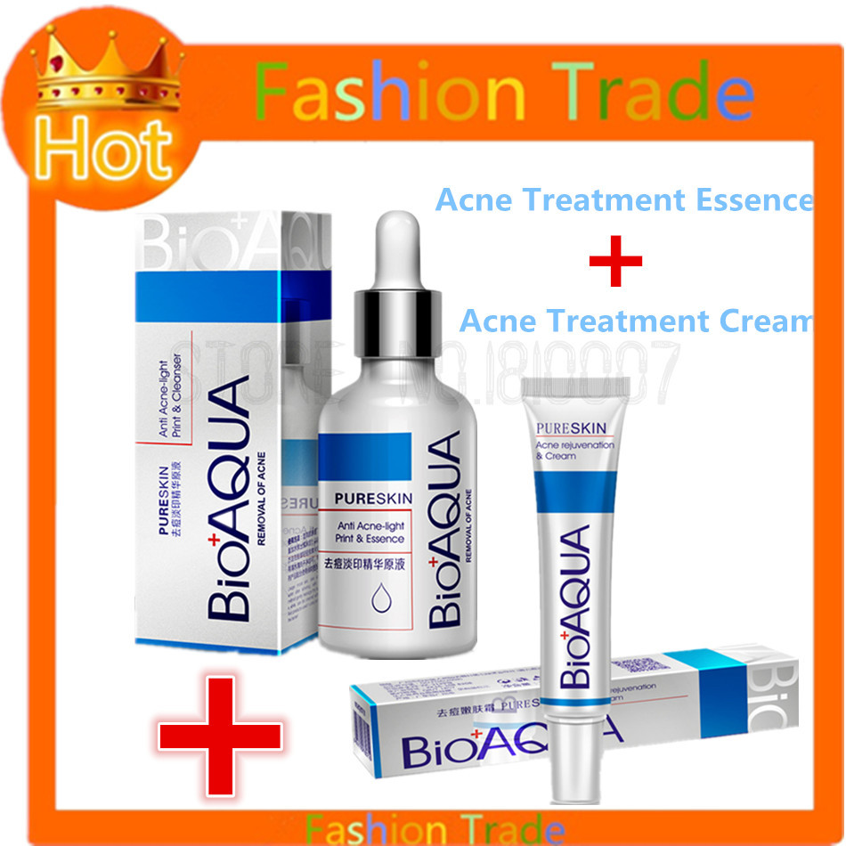 Details about 2Pcs Acne Scar Remove Cream & Essence New Spot Cream Gel For  Cystic Acne Pimple