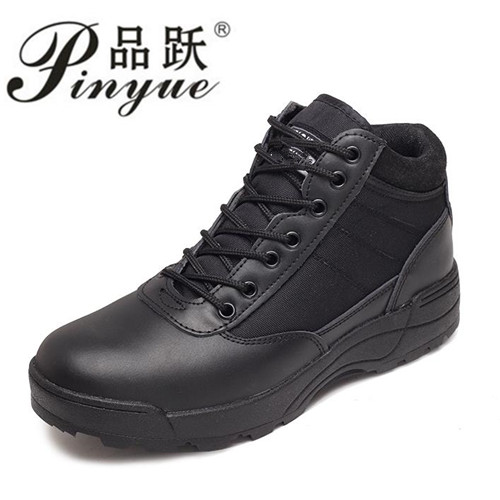 Military Leather Boots For Men Combat Bot Infantry Tactical Boots Zipper Shoes Are Super Light And Breathable Boots.