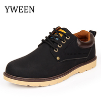 New Arrive 2016 Men Fashion British Martin Causal Shoes Men Leather Material Shoes Business Shoes HJ001