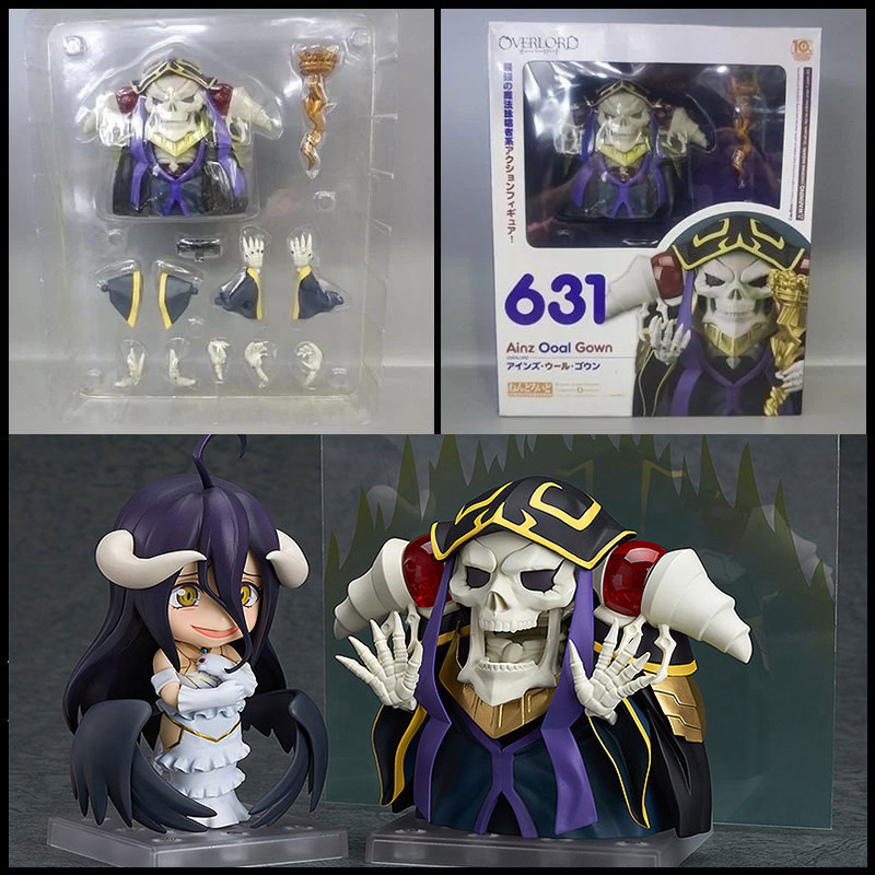 Anime Overlord Over Lord Ainz Ooal Gown Nendoroid 631# Figure Nendoroid 642# Collectible Model ( China Version )
