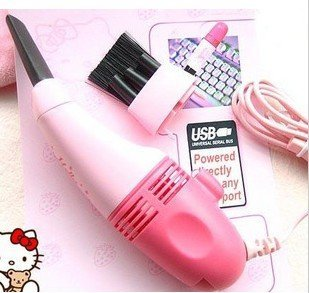 Free shipping,whole sale,MINI USB Gadget Keyboard Vacuum Cleaner,hello kitty 6pcs/lot,