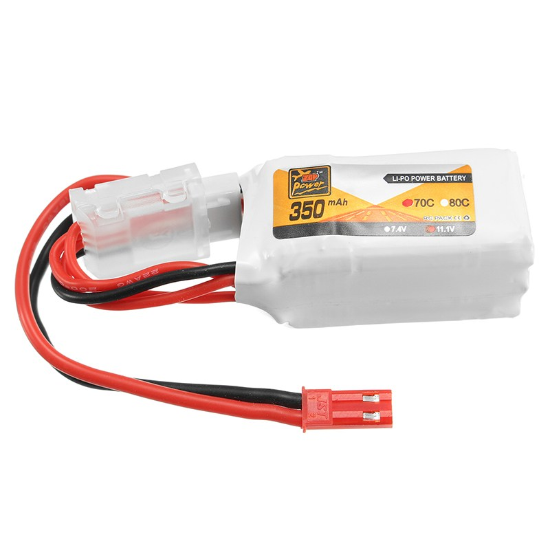 Best Deal Rechargeable Lipo Battery ZOP Power 7.4V 350mAh 70C 2S Lipo Battery JST Plug For RC Model ZOP Power