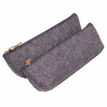 1 pcs Dark Gray Pencil Bags Gift Bag Handbag Pens P