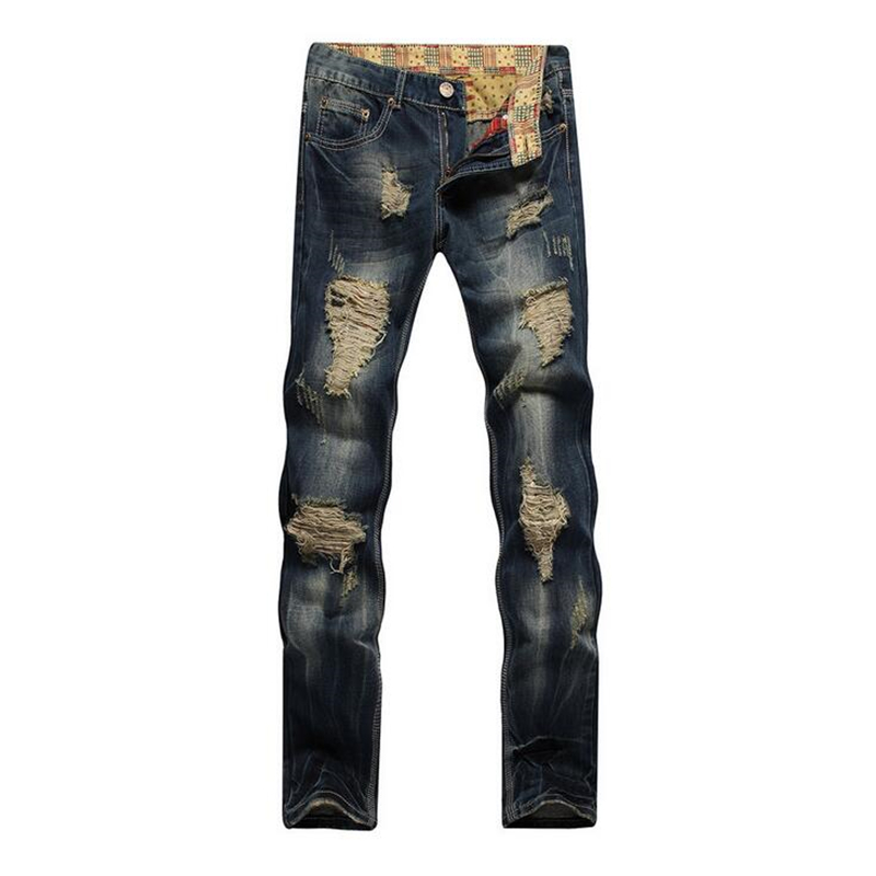2017 Mens Overalls Fashion Slim Skinny Jeans, Designer Brand Ripped Jeans Men,Solid Casual Straight Jeans Dark Blue Denim Pants famous brand mens jeans straight ripped biker jeans for men zipper denim overalls men fashion designer pants blue jeans homme