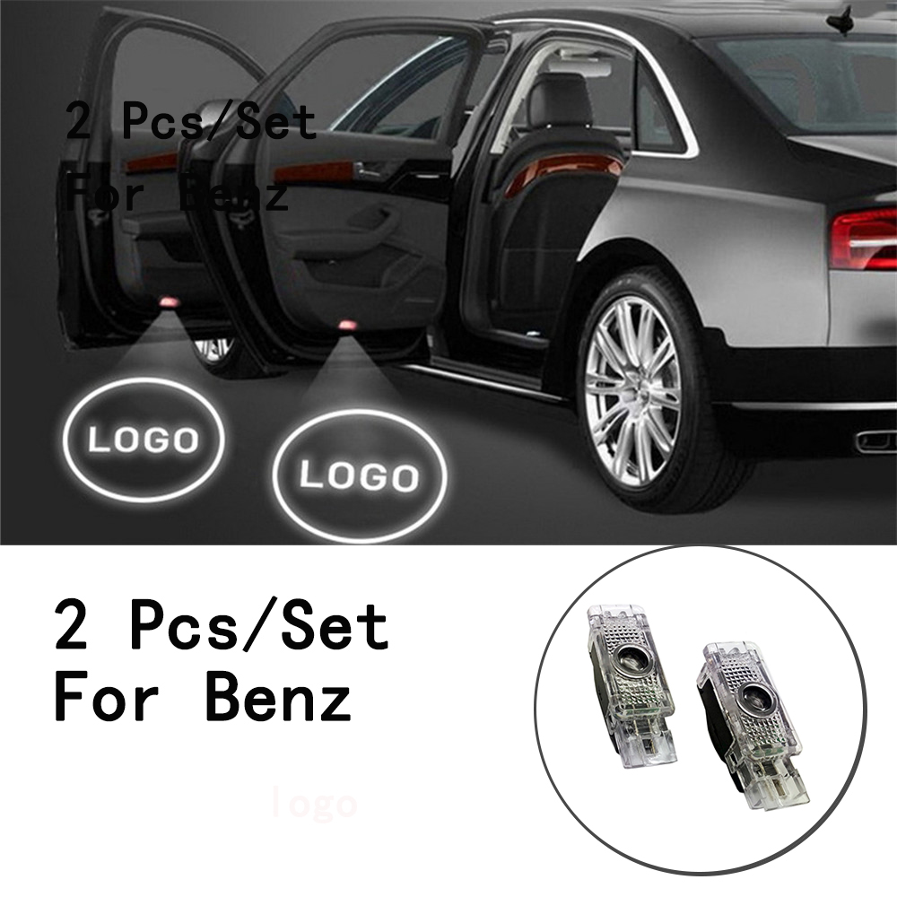 2Pcs/Set LED Courtesy Lens Include With Logo Weclome Lamp Ghost Shadow Projetor Only For Benz S Class/SLK/CLK/SLR/W240/R171 5W