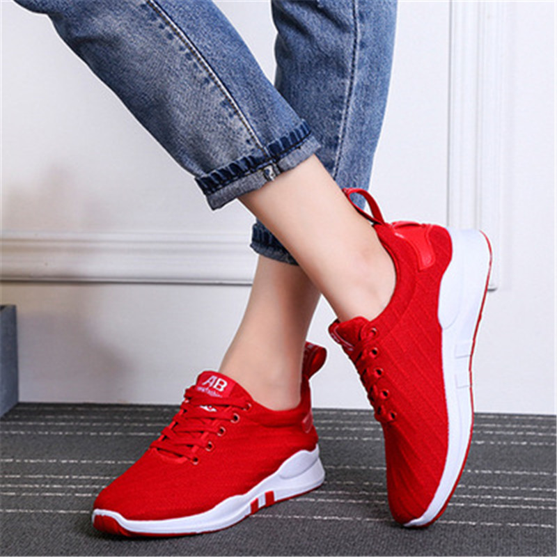 2018 outdoor sneakers female student running shoes for woman Light comfortabl Breathable leisure travel air sport shoes lace-Up