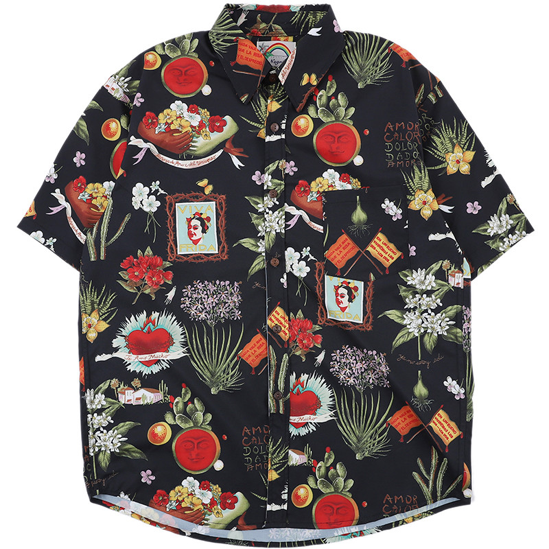 NEW Men/'s Short Sleeve Shirt Hawaiian Beach Summer Tops Floral Printed Casual GW