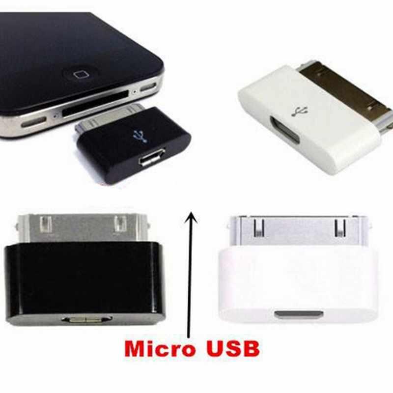 Adaptador de cargador de Cable convertidor adaptador de carga Micro USB hembra a 30 pines para iPhone 4 4S iPad 1 2 3 accesorios