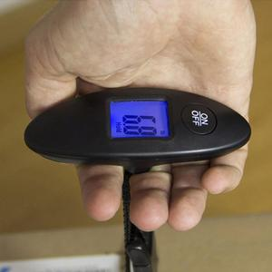 Image 2 - 1Pc 40kg/100g LCD Digital Electronic Luggage Scale Portable Suitcase Scale Handled Travel Bag Weighting Fish Hook Hanging Scale