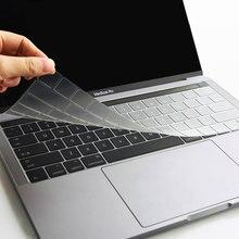WIWU US Layout pokrywa klawiatury laptopa dla MacBook Pro 16 2019 wysoka przezroczystość bez liter wodoodporna dla obudowy klawiatury MacBook