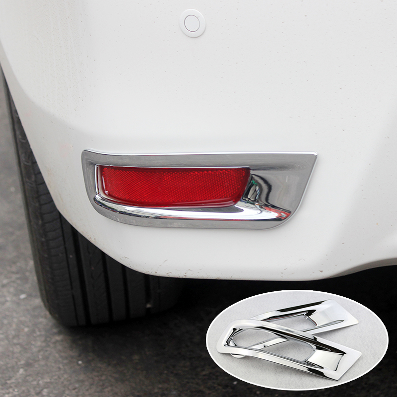Fit For Toyota Corolla Altis 2014 2015 2016 2017 Chrome Rear Bumper Fog Light Lamp Cover Trim Reflector Foglight Garnish Molding