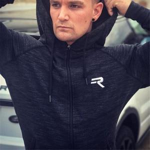 Image 3 - YEMEKE の男性のサメパーカーシングレットスウェットメンズパーカーストリンガーボディービルフィットネス男性のパーカーシャツパーカー