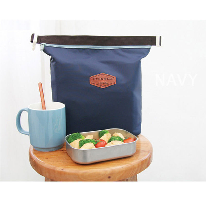 Thermal Cooler Lnsulated Waterproof Lunch Carry Storage Picnic Bag Pouch Lunch Bag Free Shipping